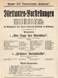 Plakat 1919 Dilettanten-Vorstellung